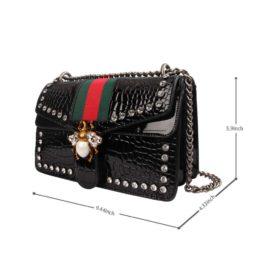 Meeto Designer Shoulder Bag for Women, Fashion Bee Crossbody Bag Handbags with Chain, Evening Bag, Cross-body Bag for Women Ladies Girls of 2019 Newest (Beige)