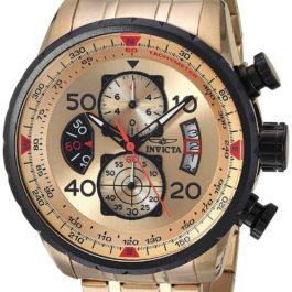 Invicta Men's 17205 AVIATOR 18k Gold Ion-Plated Watch: Invicta