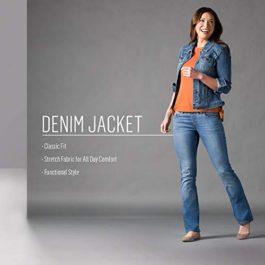 Riders by Lee Indigo Women's Stretch Denim Jacket at Amazon Women's Coats Shop