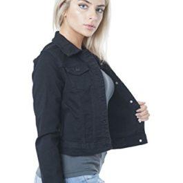 Hollywood Star Fashion Womens Basic Button Down Denim Jean Jacket at Amazon Women's Coats Shop