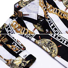 Pacinoble Mens Fashion Luxury Design Dress Shirt