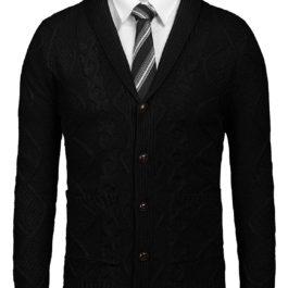 Men's Casual Knitted Merish Aran Sweater Shawl Collar Button Down Cardigan Sweater