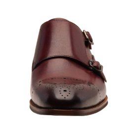 Italian Design Men's Classic Double Monk Strap Full Grain Leather Shoes Oxfords